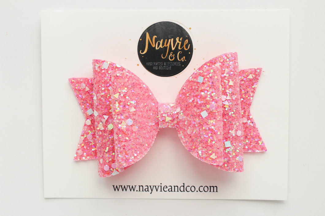 Flamingo Dazzle Dolly Bow