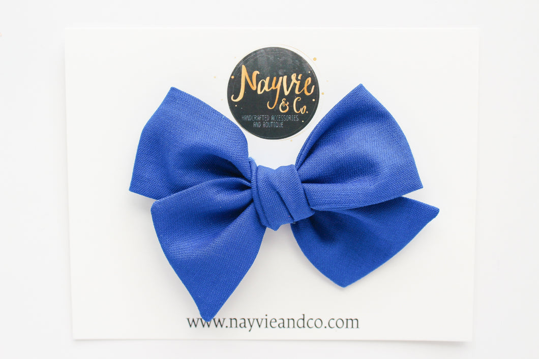 Royal Blue Hand-tied Bow