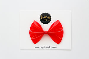 Red Glitter Pool Bow