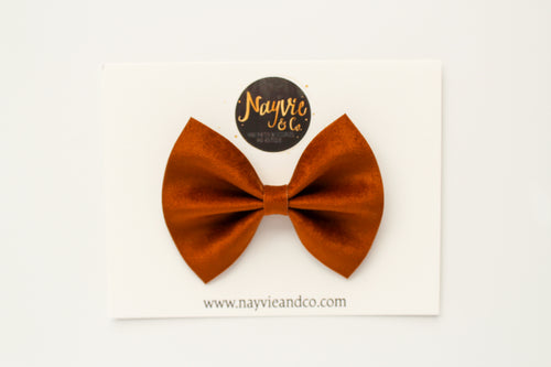 Golden Yellow Velvet Bow