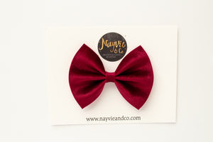 Mulberry Velvet Bow