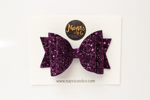 Amethyst Dolly Bow