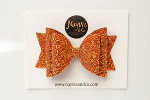 Harvest Orange Dolly Bow