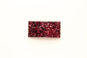 Cranberry Red Glitter Snap Clip
