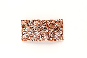 Ultimate Rose Gold Glitter Snap Clip