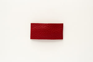 Barn Red Faux Leather Snap Clip