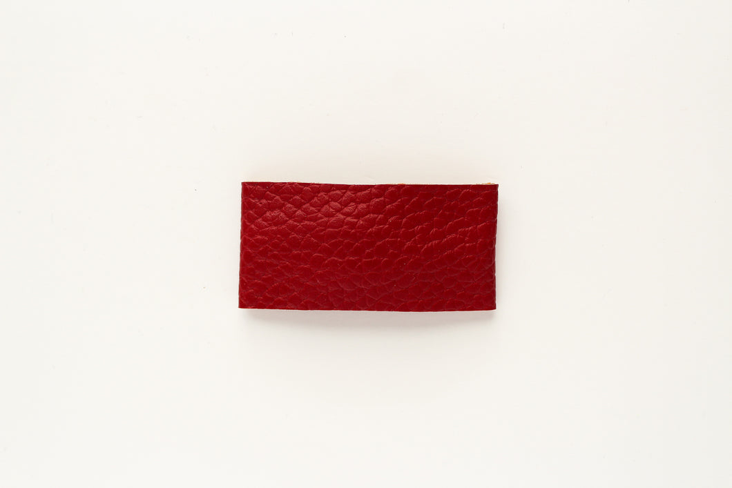 Barn Red Faux Leather Snap OR Bar Clip
