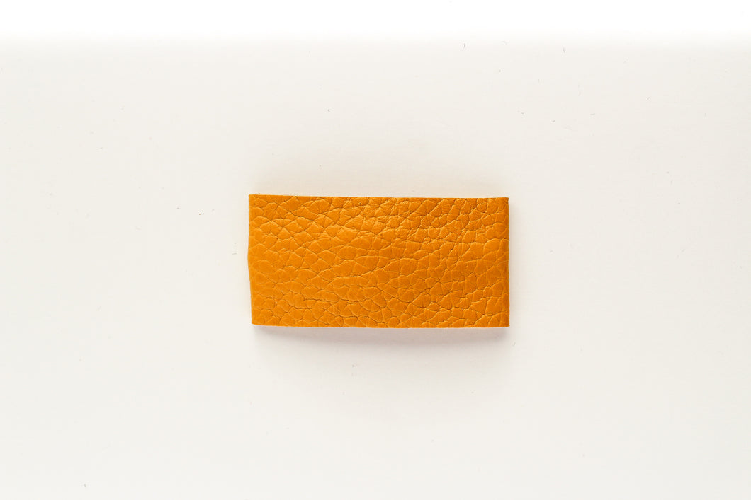 Mustard Faux Leather Snap Clip