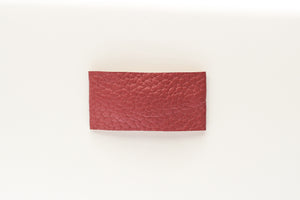Mauve Faux Leather Snap Clip