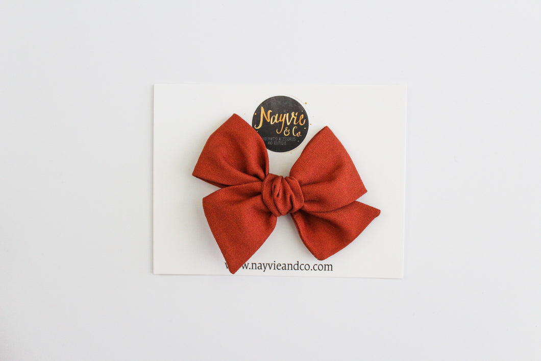 Pumpkin Hand-tied Bow