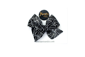 Metallic Spider Webs Hand-tied Bow
