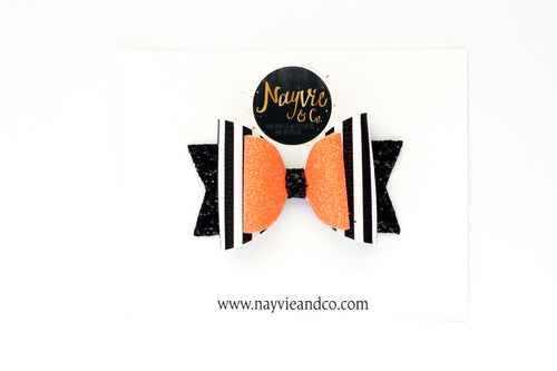 Pumpkin King Dolly Bow