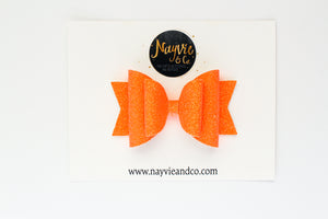 Orange GLOW IN THE DARK Dolly Bow