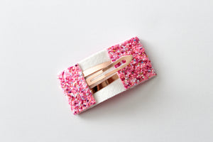 Think Pink Glitter Snap OR Bar Clip