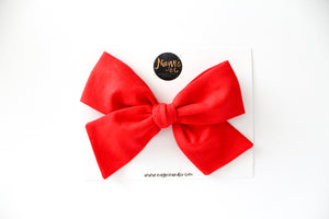 Tomato Red Hand-tied Bow
