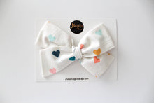Pastel Hearts Hand-tied Bow