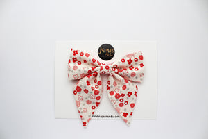 Ditsy Floral on Ivory Sailor Bow
