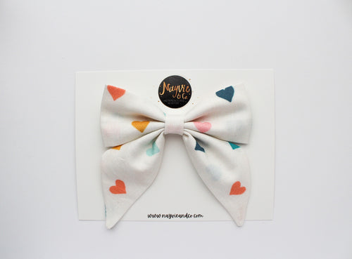 Pastel Hearts Sailor Bow