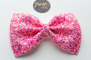 Think Pink Glitter Bow