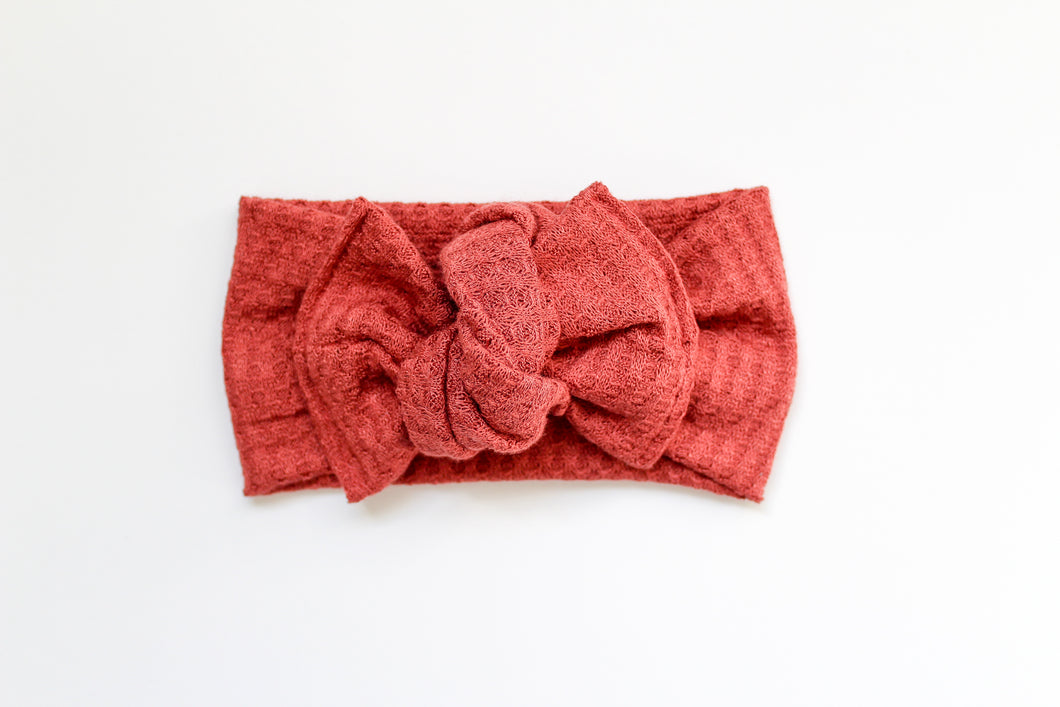 Washed Brick Waffle Tie-on Headwrap