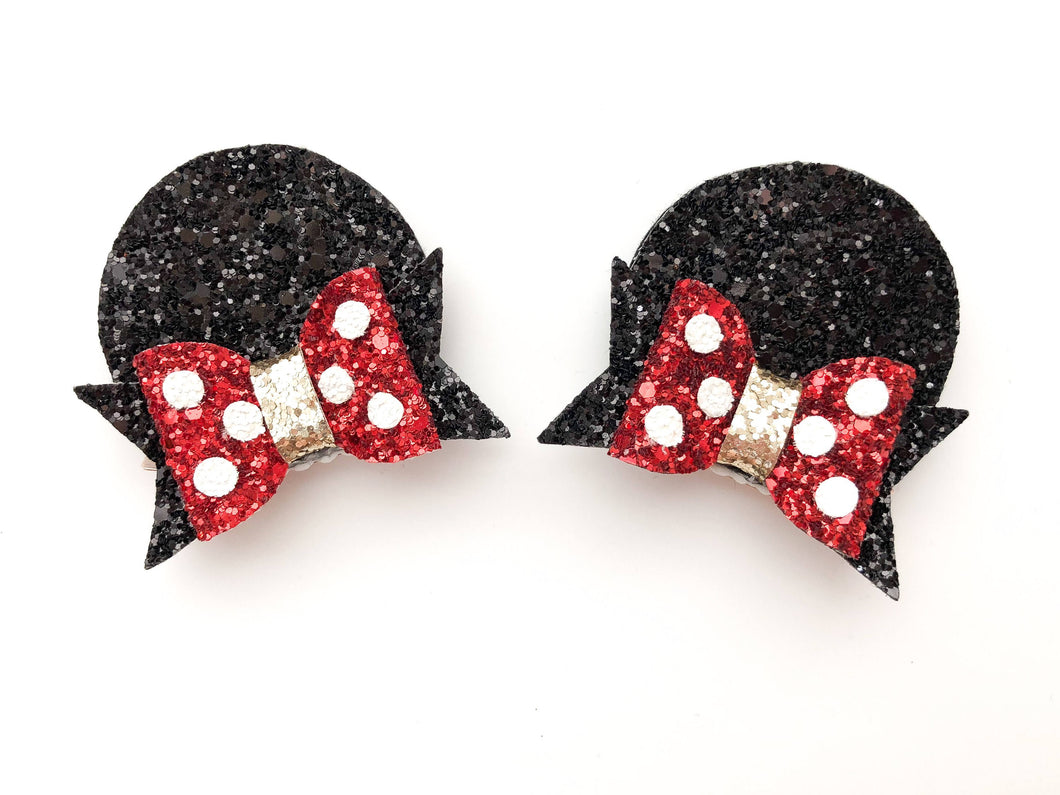 Minnie Mouse Clip Set