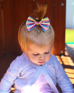 BRIGHT STRIPES Glitter Bow