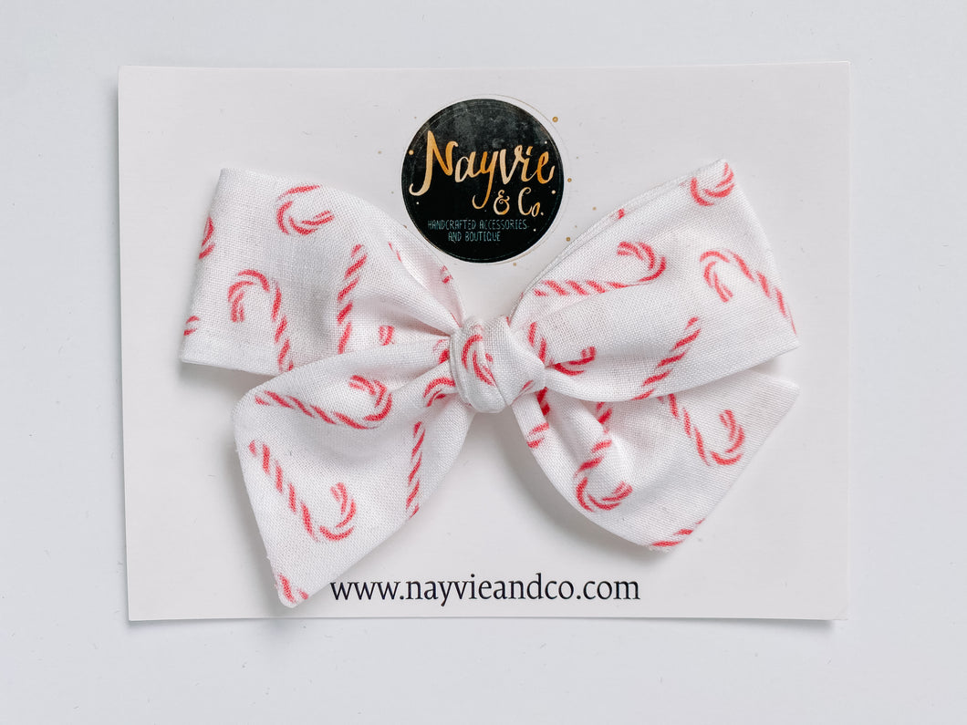 Sweet Candy Canes Hand-tied Bow