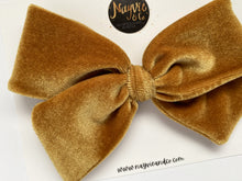 Gold Velvet Hand-tied Bow