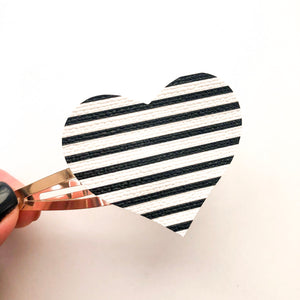 Stripes Heart Snap Clip