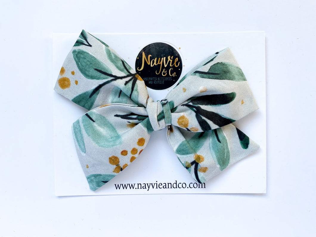 Winter Sprigs Hand-tied Bow