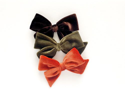 Fall Velvets Hand-tied Bow Set