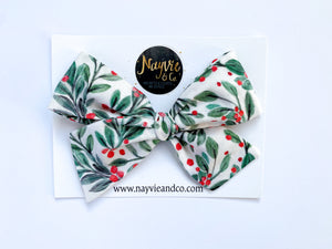 Holly Berries Hand-tied Bow