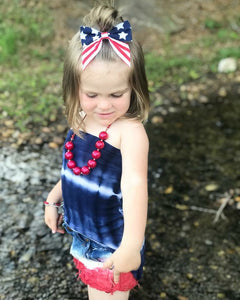 Stars and Stripes Fabric Sailor Bow