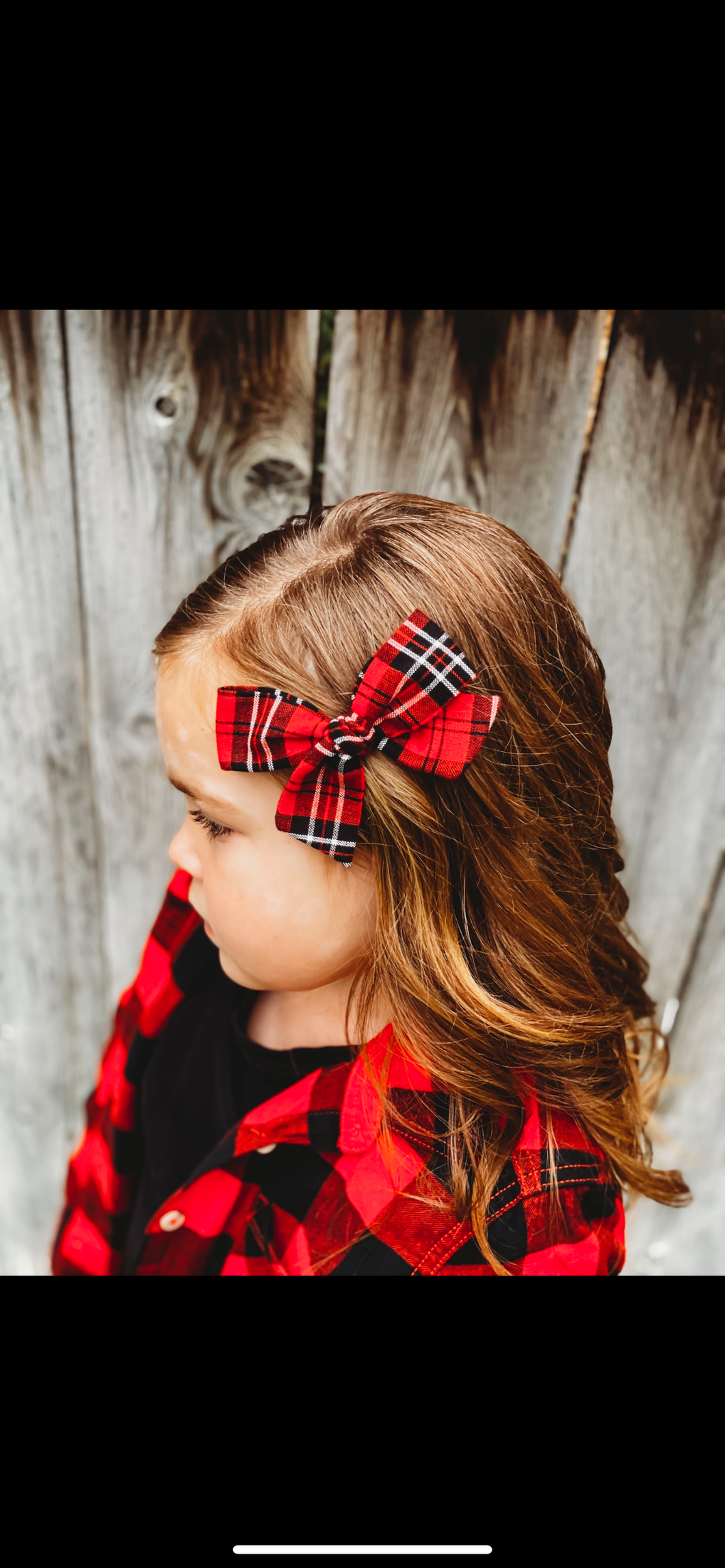 Red and Black Tartan Plaid Hand-tied Bow