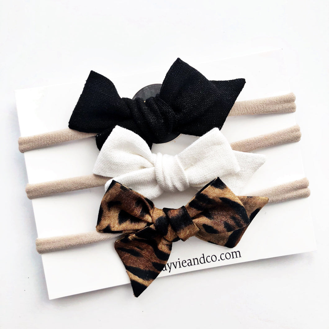 Leopard Hand-tied Bow Bundle