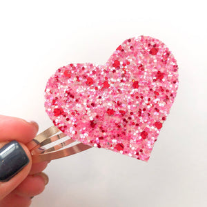 Cupid Glitter Heart Snap Clip