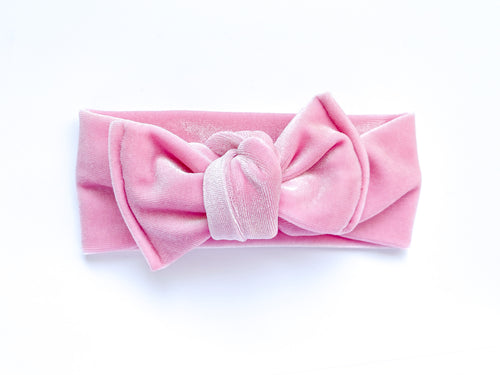 Light Pink Velvet Chunky Knotted Headwrap