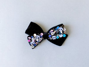 SKULLZ Sequin Hand-tied Bow