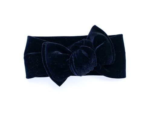 Black Velvet Chunky Knotted Headwrap