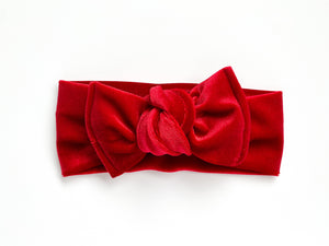 Red Velvet Chunky Knotted Headwrap