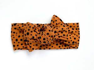 Abstract Dots Chunky Knotted Headwrap