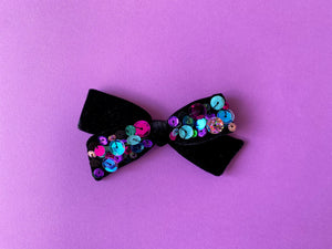 Witches Brew Sequin Hand-tied Bow