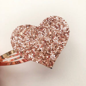 Rose Gold Heart Snap Clip