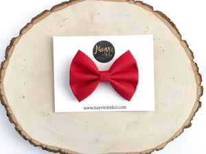 Red Classic Fabric Bow