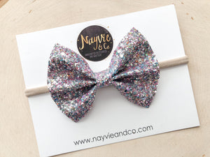 Unicorn Tears Glitter Bow
