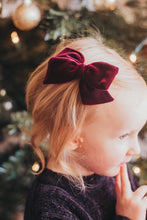 Burgundy Velvet Hand-tied Bow