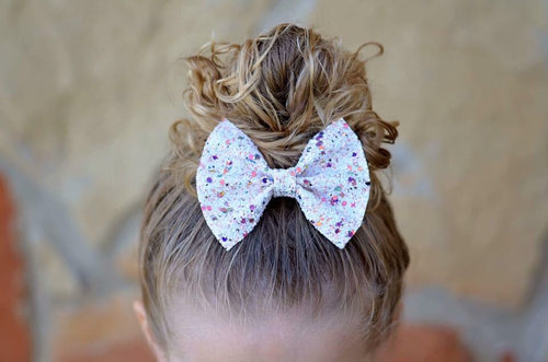 Ice Cream Shop Glitter Bow