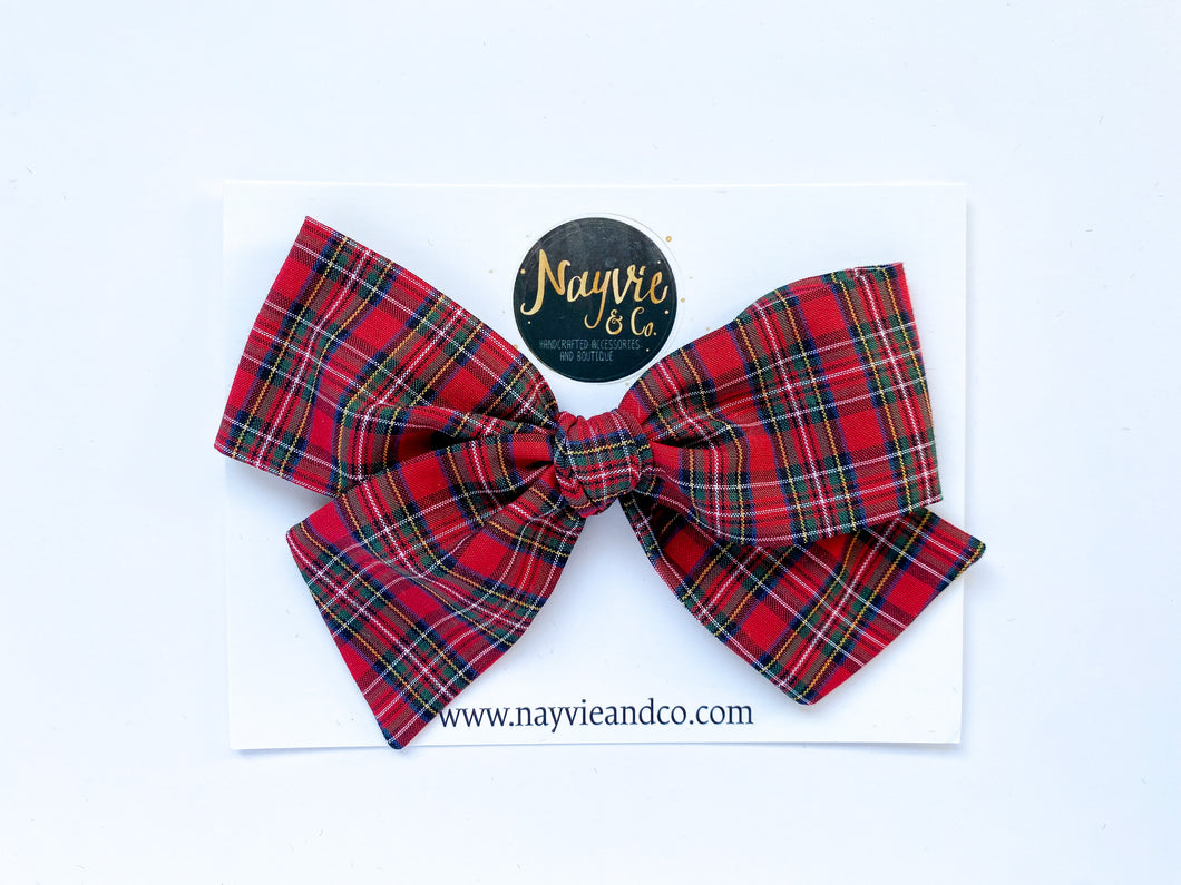 Holiday Plaid Hand-tied Bow