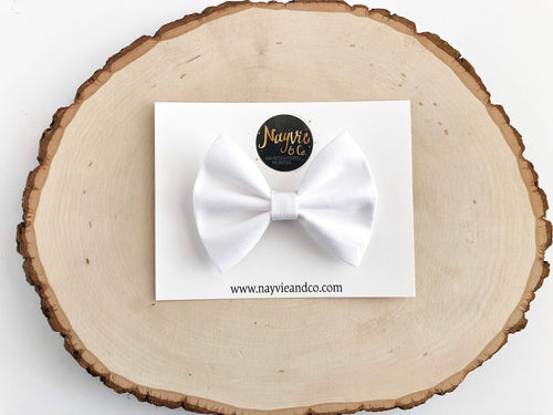 White Classic Fabric Bow