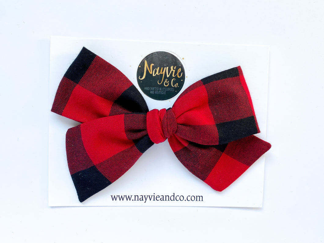 Buffalo Plaid Hand-tied Bow
